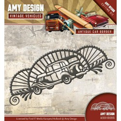 Antique Car border wykrojnik Amy Design
