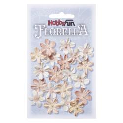 Florella kwiatki papierowe 2cm 20 sztuk