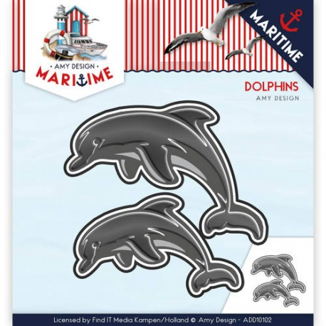 Martime delfiny wykrojnik Amy Design