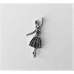 Zawieszka baletnica kolor srebrny