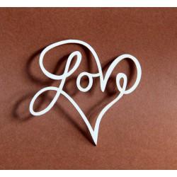 Tekturka serce LOVE