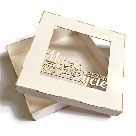 Pudełko 15x15cm z beermaty