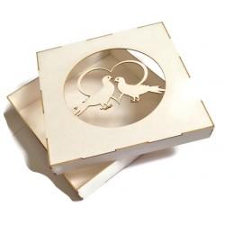 Pudełko 15x15cm z beermaty gołąbki