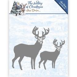 Christmas reindeers wykrojnik Amy Design