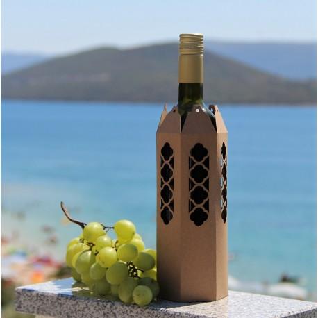 Opakowanie na butelkę na wino CZARNE