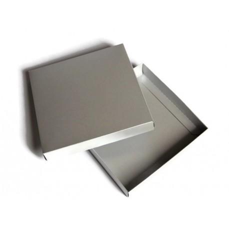 Pudełko 15x15cm SREBRNY