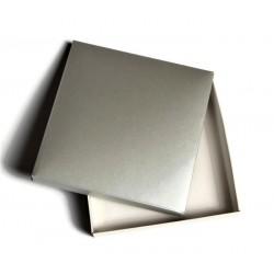 Pudełko 15x15cm SREBRNO-BIAŁE