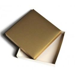 Pudełko 15x15cm ZŁOTO-BIAŁE