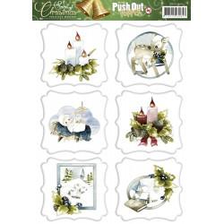 Brocante Christmas ozdoby 3D, arkusz A4