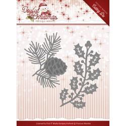 Joyful Christmas wykrojnik ramka, tag Precious Marieke