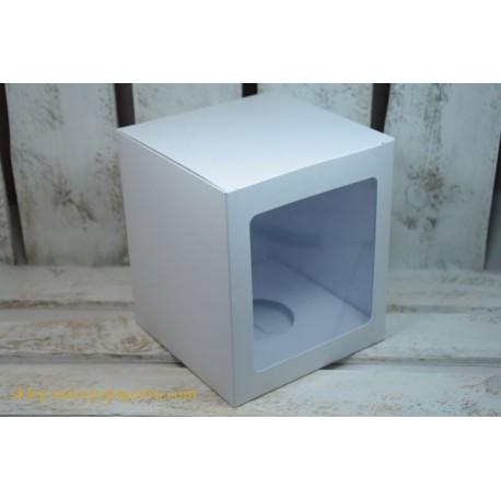 Pudełko na bombki, ozdoby - białe