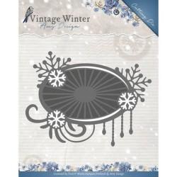 Snowflake Swirl border  wykrojnik brzegowy Amy Design