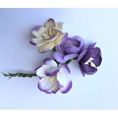 Kwiat wiśni fiolet MIX zestaw 5 szt.