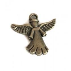 Aniołek zawieszka metalowa kolor srebrny
