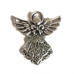 Aniołek mini zawieszka metalowa kolor antyczne złoto