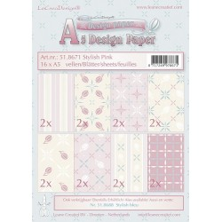 Design Paper Stylish Pink zestaw papierów A5 16szt