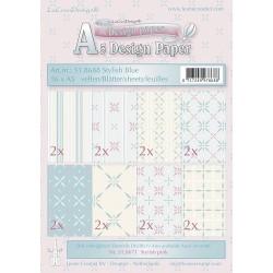 Design Paper Stylish Blue zestaw papierów A5 16szt