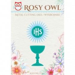 Kielich, hostia winogrona wykrojnik Rosy Owl