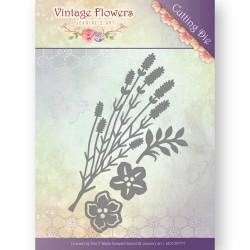Vintage Flowers Border wykrojnik brzegowy Jeanines Art