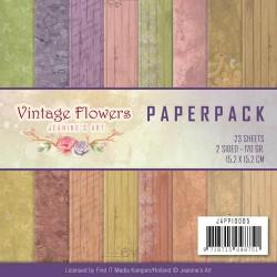 Vintage  Flowers 15x15cm zestaw 23szt.