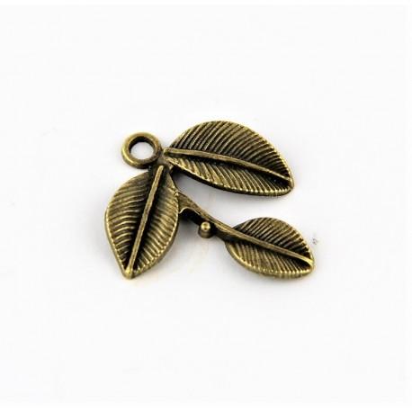Motyl DUŻY zawieszka metalowa kolor antyczne złoto