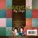 Oriental zestaw papierów 15x15cm - Amy Design