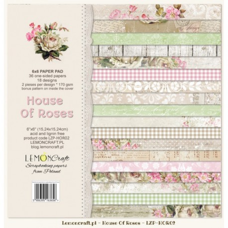 Dom Róż Nowy Mały bloczek 15x15 LEMONCRAFT
