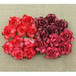 Cottage rose MIX NEBIESKI 25 mm, zestaw 20szt.