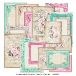 Dom Róż - Ephemera cards Lemoncraft