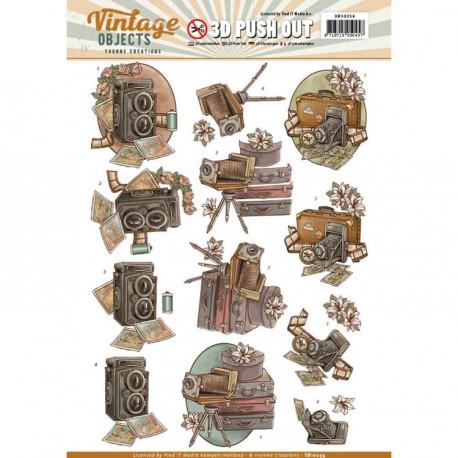 Vintage Objects - Communication ozdoby 3D Push Out, arkusz A4