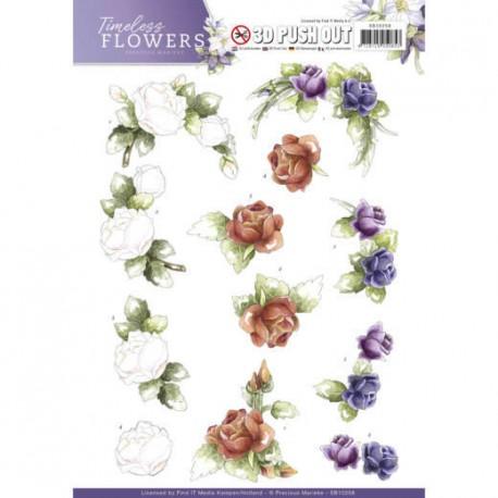 Timeless Flowers - Garden ozdoby 3D Push Out, arkusz A4