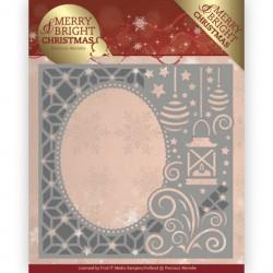 Merry and Bright Christmas wykrojnik narożnik Precious Marieke