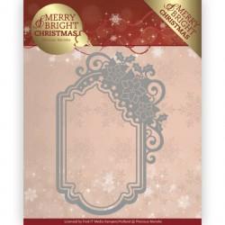 Merry and Bright Christmas wykrojnik ramka Precious Marieke