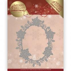 Merry and Bright Christmas wykrojniki ramki Precious Marieke