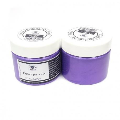 Farba/pasta 3D 50ml metal błękit-13 SeeArt