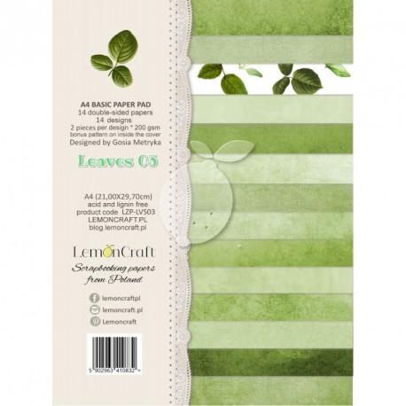Leaves bloczek papierów A4 Liście 02 LEMONCRAFT