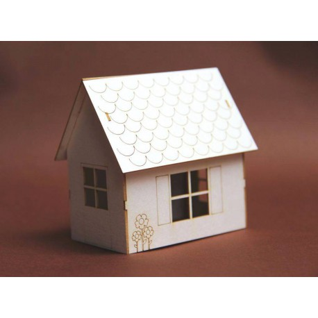 Domek 3D z tektury