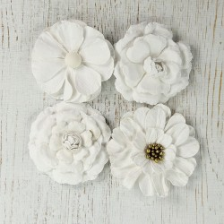 Serenade - Celeste 4cm kwiatki papierowe 8 szt