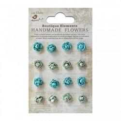 Micro Roses Pacific Blue kwiatki papierowe16 szt