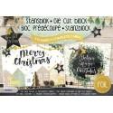 Bright Christmas ZŁOCONE zestaw 12 arkuszy die cuts A5