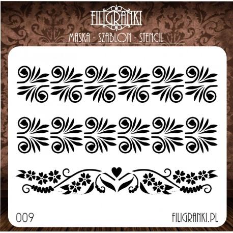 Szablon/maska BORDERY Filigranki nr 8