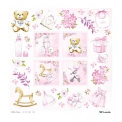 Little Cuties - Arkusz Dziewczęcy Do Wycinania 30x30cm