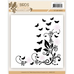 Butterflies and Flowers Embossing Folder - Jeanines Arts