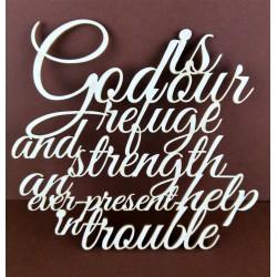 Tekturka THANK GOD werset biblijny ang