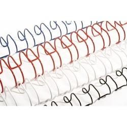 Grzbiety drutowe do bindowania NIEBIESKIE 6,4mm 50szt 16-40k
