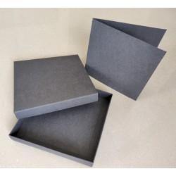 Pudełko+ BAZA GRAFIT/antracyt 15x15cm