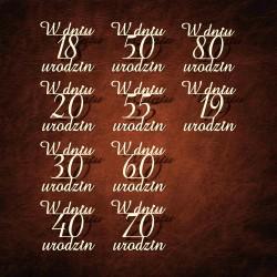 Tekturka napis W DNIU 40 URODZIN_v1