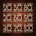 Tekturka napis W DNIU 100 URODZIN druk