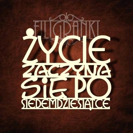 Tekturka napis duży 13x15cm TWÓJ DOM...