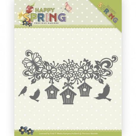 Happy Spring wykrojniki ptaszki 3szt  Precious Marieke
